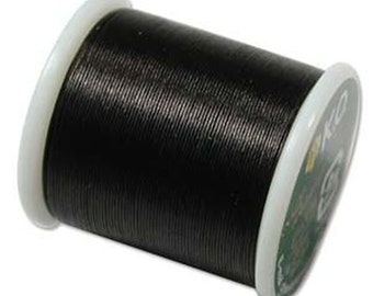 Bead Thread - KO Nylon Japanese Beading Thread 55 yd Spool - Black (353)