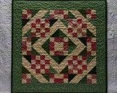 Pink and Green Miniature Quilt
