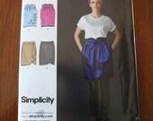 Simplicity 2512 Cynthia Rowley Dressy Skirt Sewing Patten sz 12 14 16 18 20 UNCUT