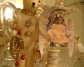 Angel Christmas Black Americna little girl angel*Spoolie*Shelf Sitter*Dazzling*Gift*Decoration*Ornament*Collage