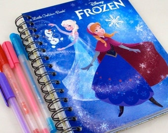 Frozen Upcycled Lined Journal