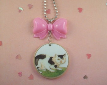 Kitty Bow Necklace