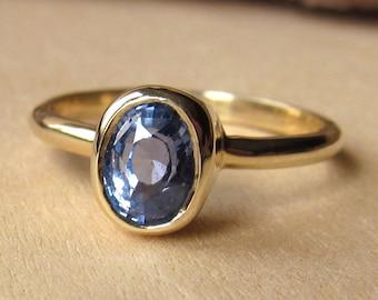 Oval Light Blue Sapphire