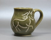 Green Unicorn Mug