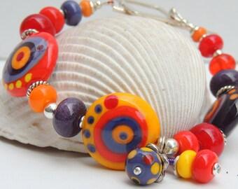 FAVORITES Handmade Lampwork Bead Bracelet