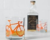 VITAL BIKE GLASSWARE screen printed bicycle glasses rocks or pint