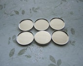 Cabochon Settings Side Wall 22mm Bezel Inside Round Silver Tone Findings on Etsy x 6