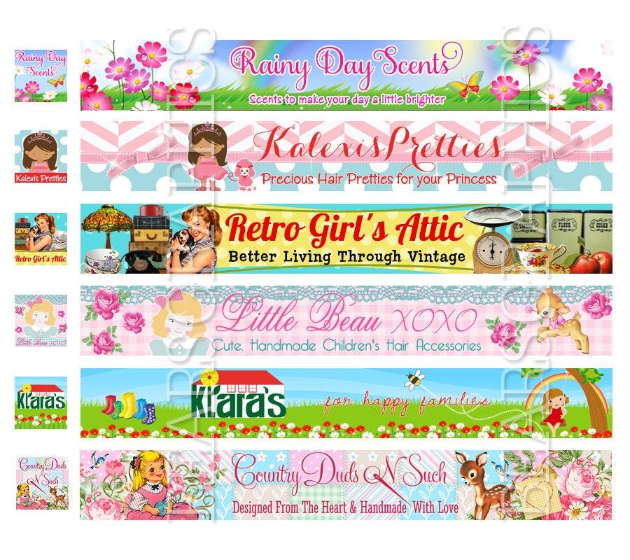 Custom Etsy Banner Shop Banner Store Banner Banner for