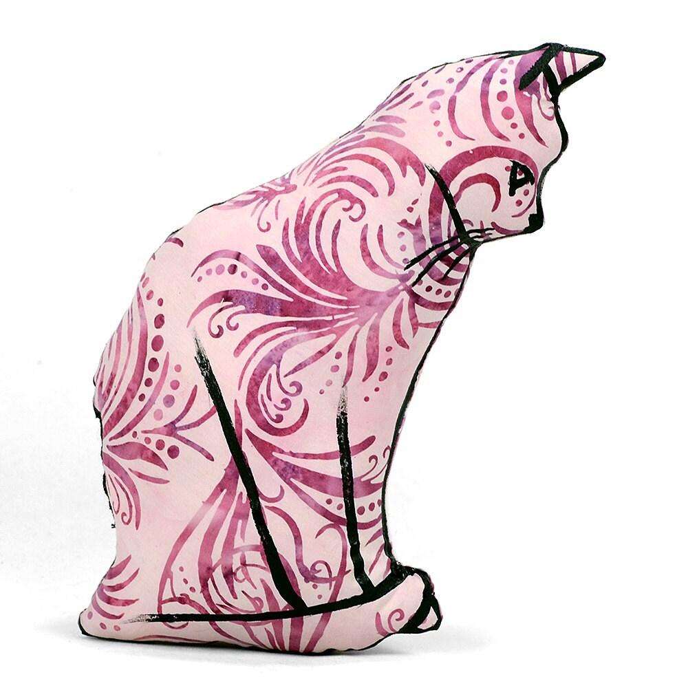 decorative pillow cat pillow animal pillow cat profile
