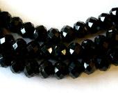 Black Crystal Beads 8x10mm  (70)