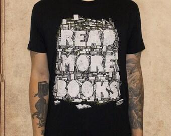 Read More Books - black - cotton - discharge inks - literature