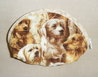 Small Quilted Purse - Golden Retrievers
