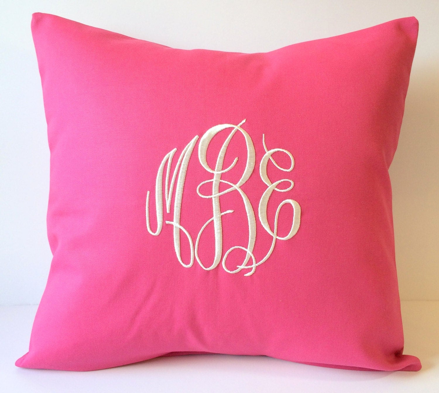 MONOGRAM Pillow Cover. 18 x 18 Decorative Pillow. Graduation