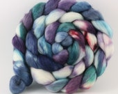 Polwarth Mohair Silk - 2115 - Hand Dyed Fiber for Spinning