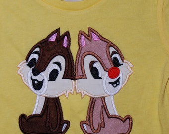 Chip and Dale cutie shirt Boy or Girl size 12m-14