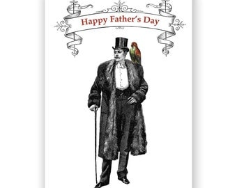 SALE! Boy, Can Dad Wear a Top Hat - Fathers Day Card