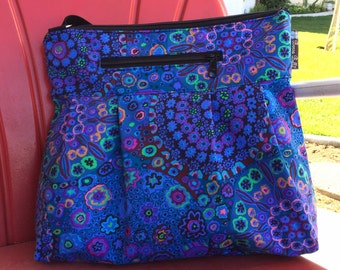 iPad Purse Kindle Handbag iPad Shoulder Bag Nook Purse Padded Electronics Pocket MEDIUM HOBO BAG Murano Glass Fabric