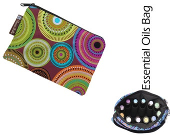 Essential Oils Take Along Bag by Borsa Bella - Waterproof lining fabric - Bohemian Jewels Fabric