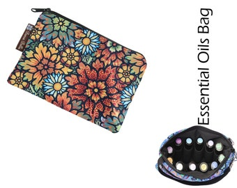 Essential Oil Bag - Essential Oil Pouch - Oil Bags - Waterproof lining fabric - Desert Blooms Fabric