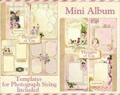 Thoughts of You Mini Book Kit Vintage Heritage Scrapbook INSTANT DOWNLOAD Cottage Chic Digital Printable