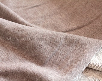 Japanese Fabric FrenchTerry Knit - brown - 50cm