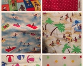 Moda Fabric Sock Monkey Beach Lot OOP