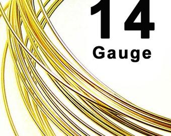 14 Gauge 14K Yellow Gold Filled Wire Round Half Hard HH- 1 Ft