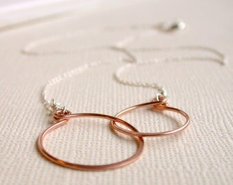 Eternity Necklace. Best Friend Necklace. Girlfriend Necklace. Best Friend Jewelry. Bridesmaid Necklace.