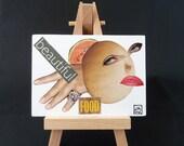 Beautiful Food - ACEO - Original Collage Art Card