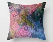 Arctic Bubbles Pillow Hydrangeas Flowers Pond