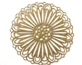 8pc 59mm antique bronze filigree wraps-5722