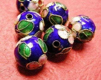 10pc 10mm round Cloisonne beads-2314
