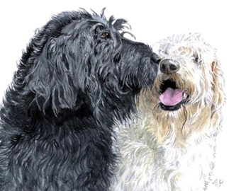 Labradoodle love 16 x 20 inches
