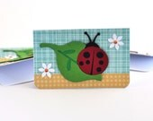 Lady Bug Mini Card Gift Enclosure Cards or Tags