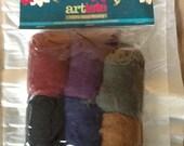 ARTISTE 100% WOOL ROVING Needle Felting 6 colors 4 oz Antique Darks