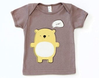 Say What? Hamster Baby T-Shirt - Organic Cotton