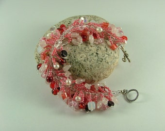 Pretty in Pink Caterpillar Bracelet B-17