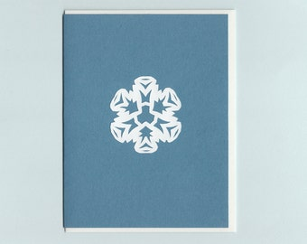 Special Snowflake #1 - papercut collage card