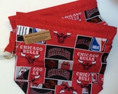 Flash Sale Double Shot Snappy Knit Chicago Bulls fabric project bag. No exposed seams. Zipper / velcro free. Two available!