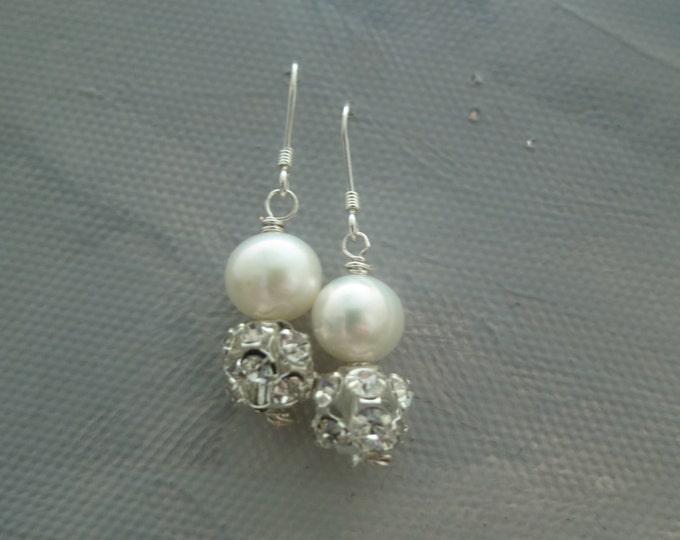 Ivory Freshwater Pearl Earrings AAMIRA