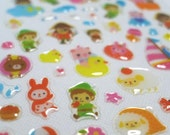 Kawaii Glossy Crystal Japanese Sticker - Bed Time Story - Peter Pan and the Neverland Pirates (1321)