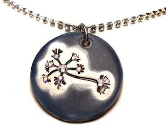 Multipolar Neuron Sparkle Surly Necklace with Swarovski Crystals