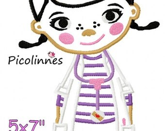 Doctor Girl Machine embroidery Applique Birthday design 5x7 6x10 7x11 INSTANT DOWNLOAD