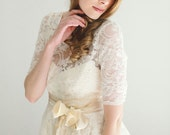 Cyber-Ellie--2 Piece, Lace and Cotton Wedding Dress--CYBER MONDAY SALE