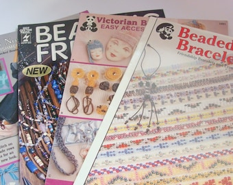Lot of 4 Jewelry and Beading Instruction Leafletts