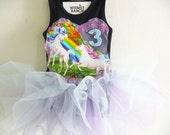 Unicorn Tutu - Rainbow and butterfly Tutu - Unicorn Dress - Unicorn Birthday - Unicorn Party - Personalized