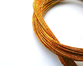 Mizuhiki Japanese Decorative Paper Strings Cords METALLIC Gold And Orange