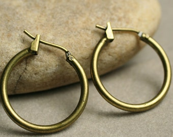 Antique brass hoop 20mm, 6 pcs (item ID XMHB00841)