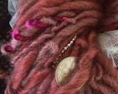 Hoochie Woman burlesque inspired art yarn with pearls, feathers, sequins 94 yards burlyq shimmy tassels ribbon glamour hollywoood cabaret