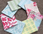 Fabric Destash no. 193, 194, 195, 196 -- 8 Fat Quarters